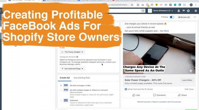 Creating Profitable Shopify Dropshipping FaceBook Ads + Real Examples
