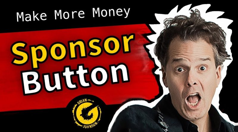 YouTube Sponsor Button – What You Missed