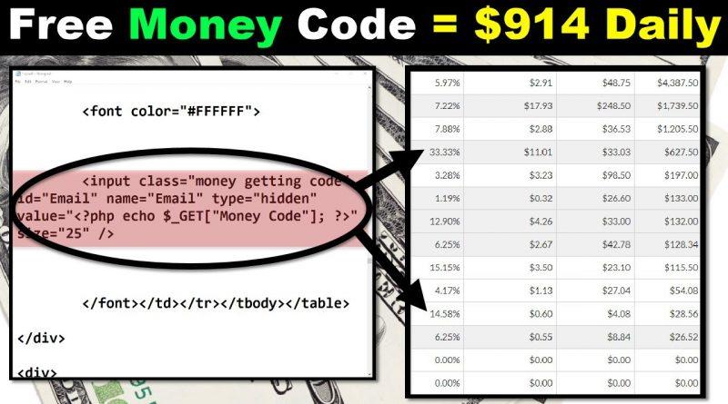 Free Money Code ($914 A Day?) Mind Blown!